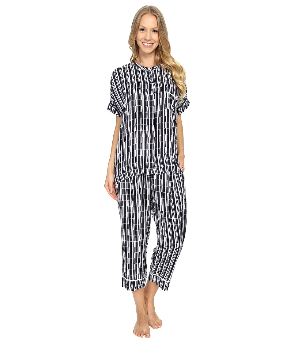 DKNY - City Break Capris Set (Peacoat Blocks) Women's Pajama Sets