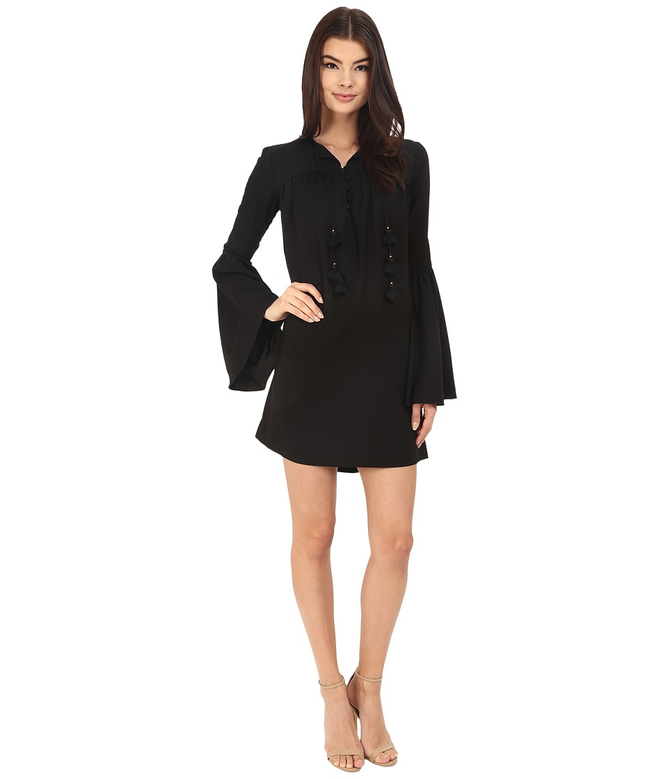 Rachel Zoe Helen Bell Sleeve Dress (Black) Women