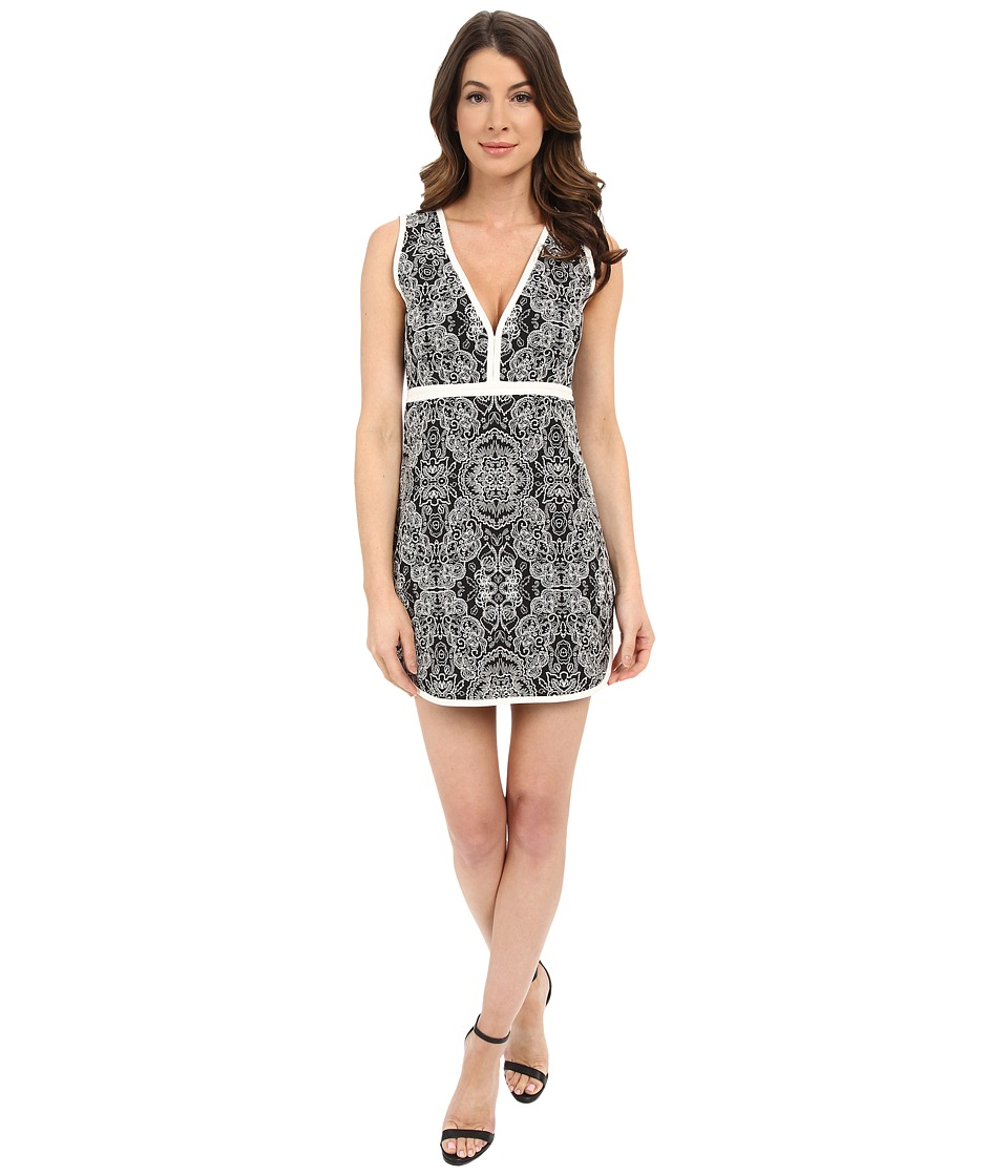 Rachel Zoe Detra Floral Jacquard Dress (Black/White Multi) Women