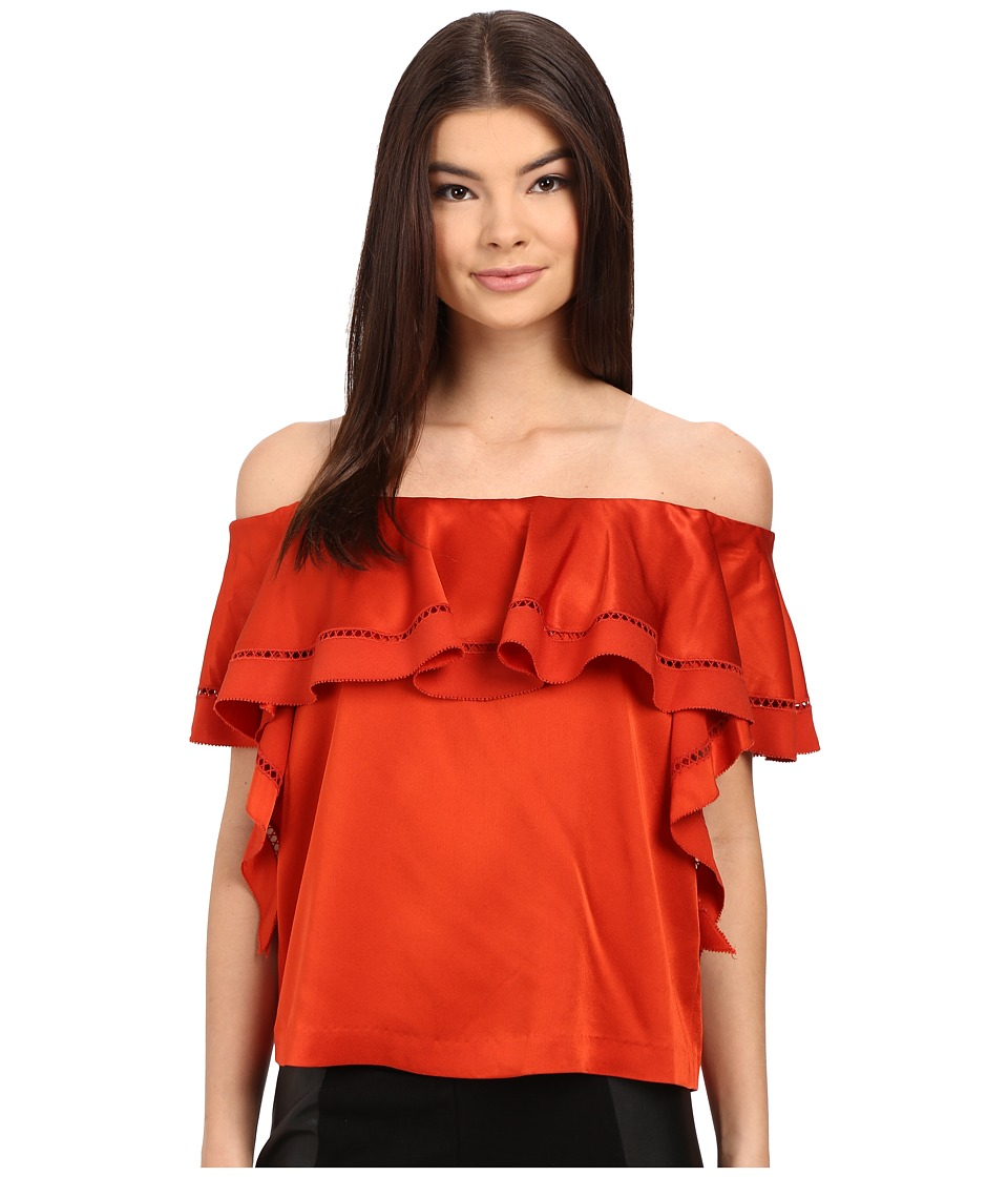 Rachel Zoe - Gaia Off the Shoulder Top (Spice) Women's Short Sleeve Pullover