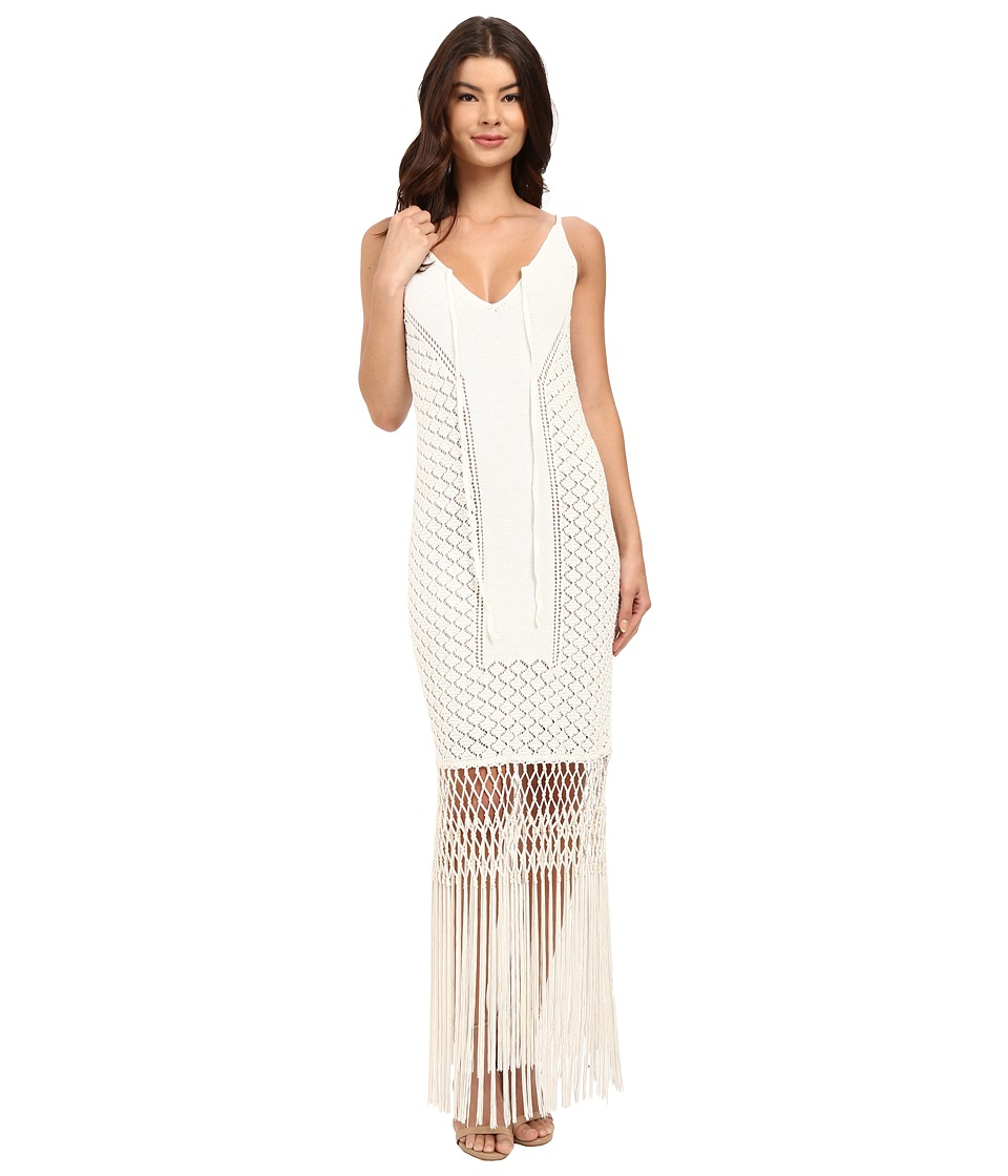 Rachel Zoe - Jess Crochet Knit Maxi (Soft White) Women's Dress