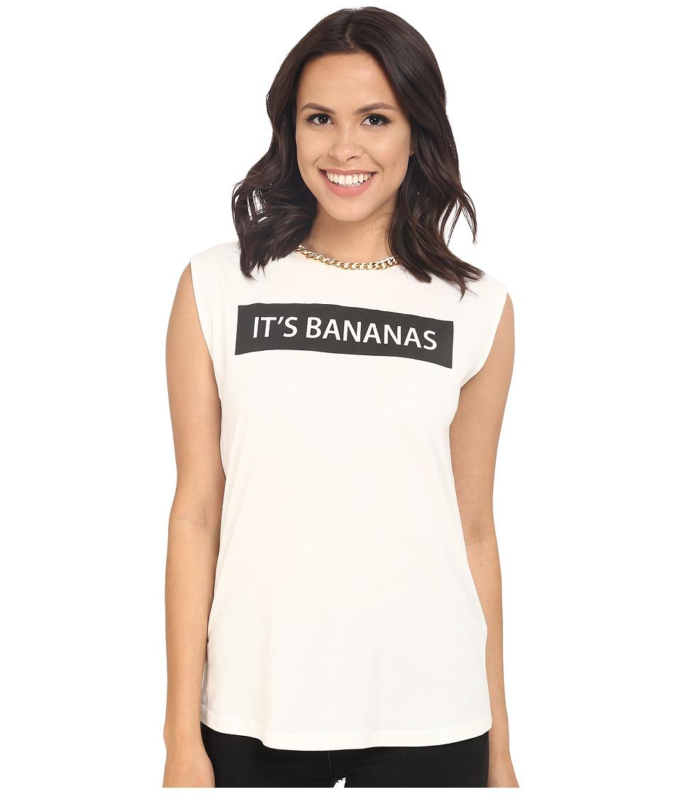 Rachel Zoe - Lettie Bananas Tee (White/Black) Women's Clothing
