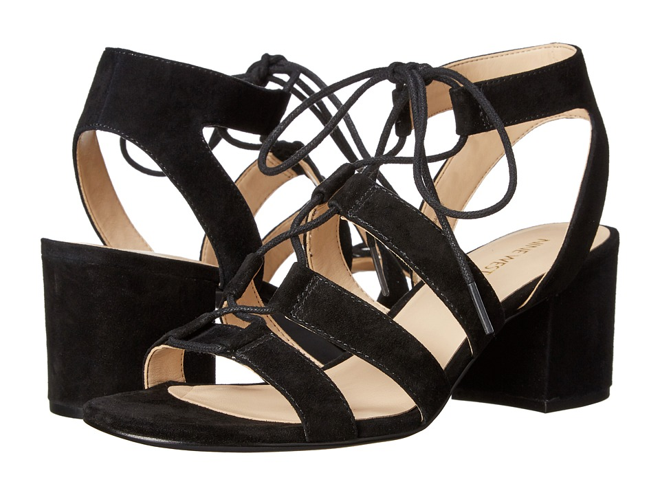 Nine West Gazania Black Suede High Heels