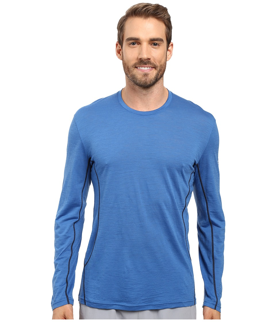 Icebreaker - Aero Long Sleeve Crewe (Pelorus/Stealth) Men's Long Sleeve Pullover