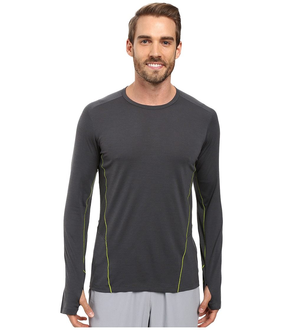 Icebreaker - Factor Long Sleeve (Monsoon/Monsoon/Cactus) Men's Clothing
