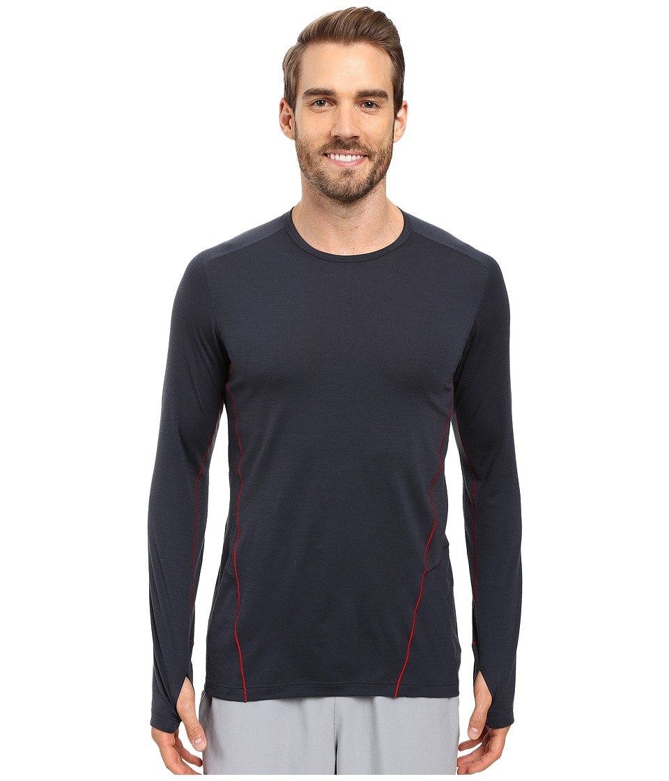 Icebreaker - Factor Long Sleeve (Stealth/Stealth/Oxblood) Men's Clothing