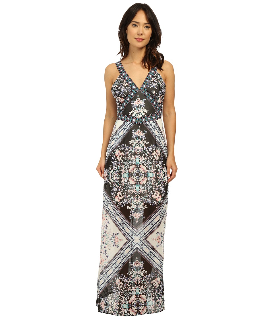 Brigitte Bailey - Jasmine Print Maxi Dress (Multi Black) Women's Dress
