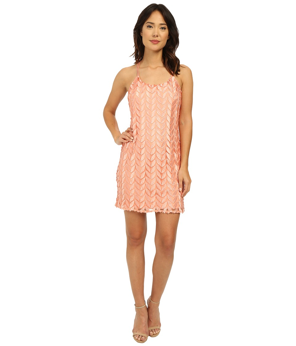 Brigitte Bailey - Leaf Mini Dress (Blush) Women's Dress