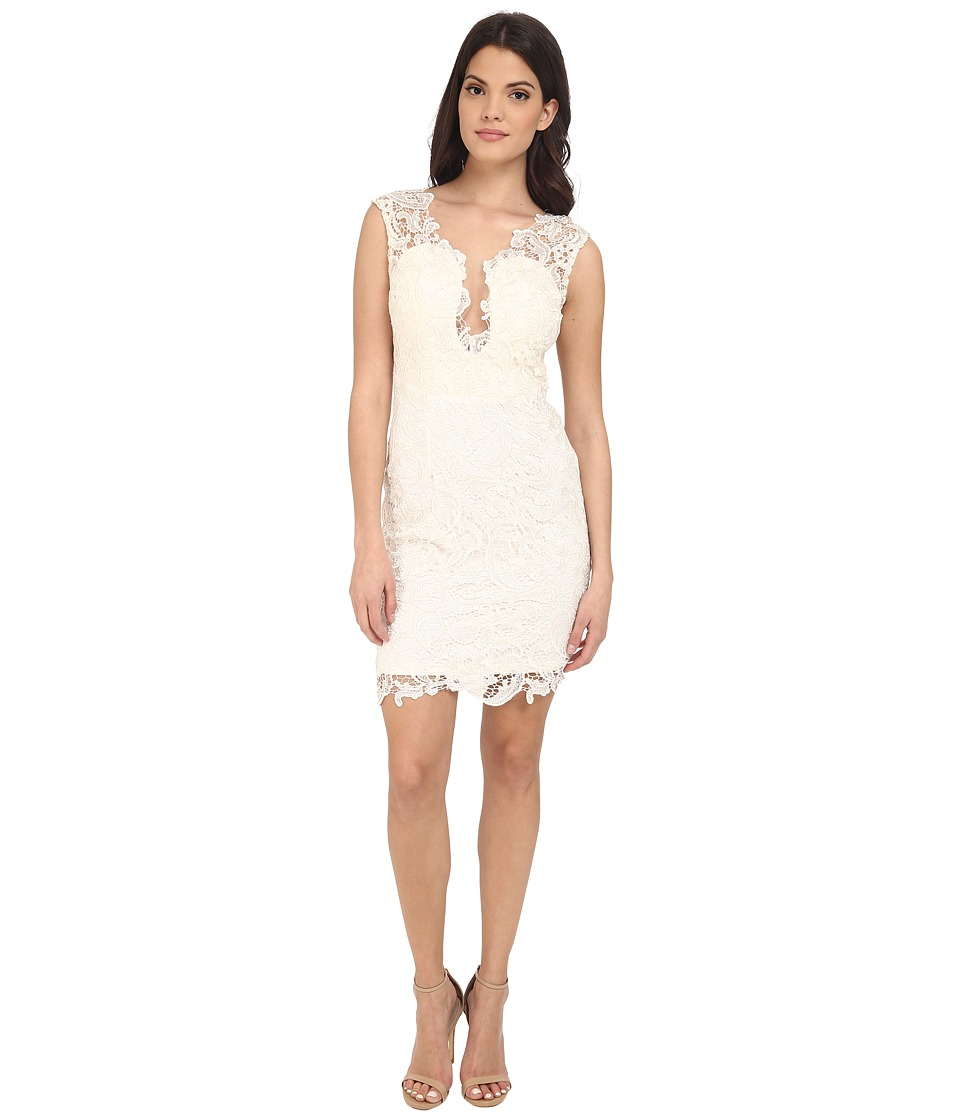 Brigitte Bailey - Lace Cutout Dress (Off-White) Women's Dress