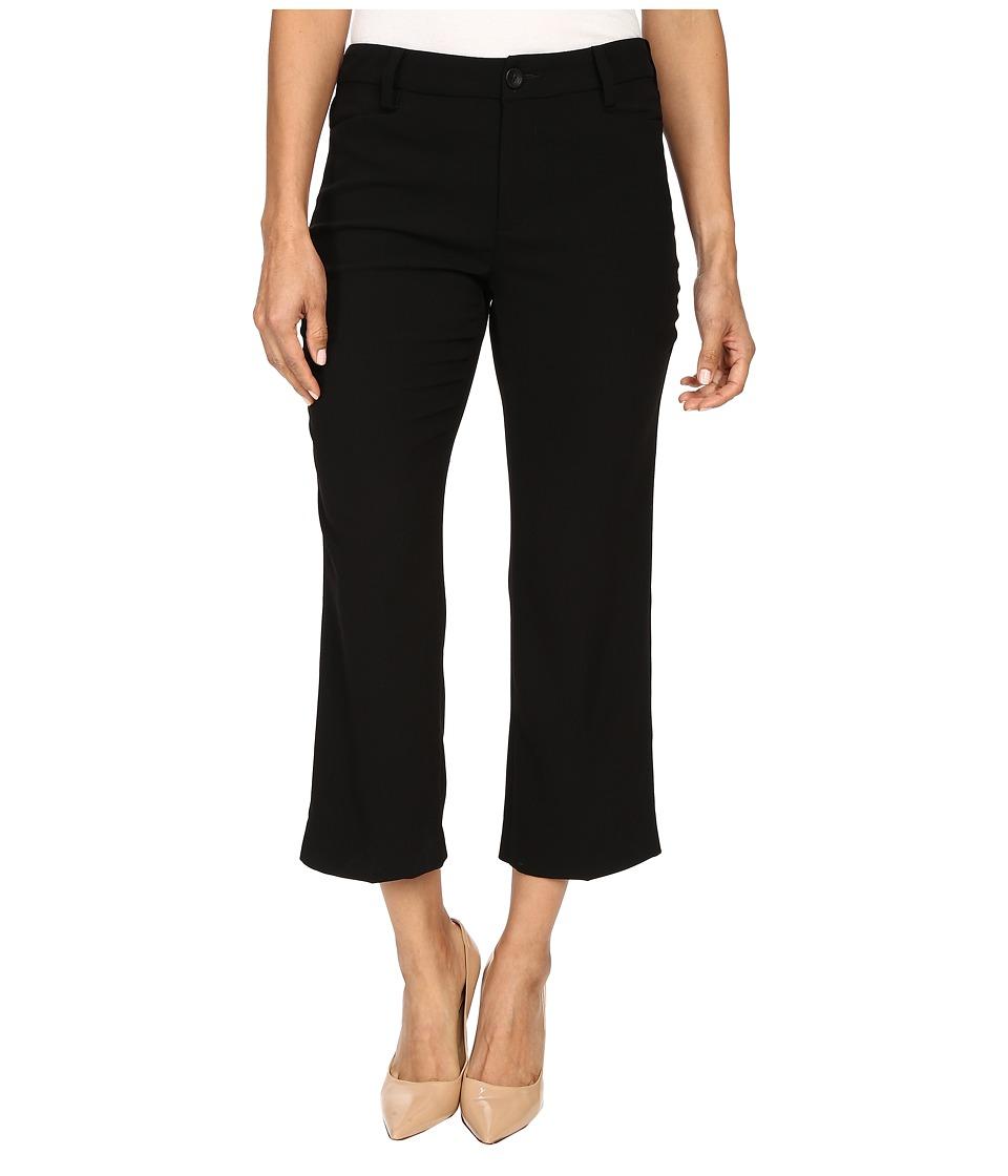 NYDJ Petite - Petite Kylie Mini Flare Ankle in Black (Black) Women's Casual Pants
