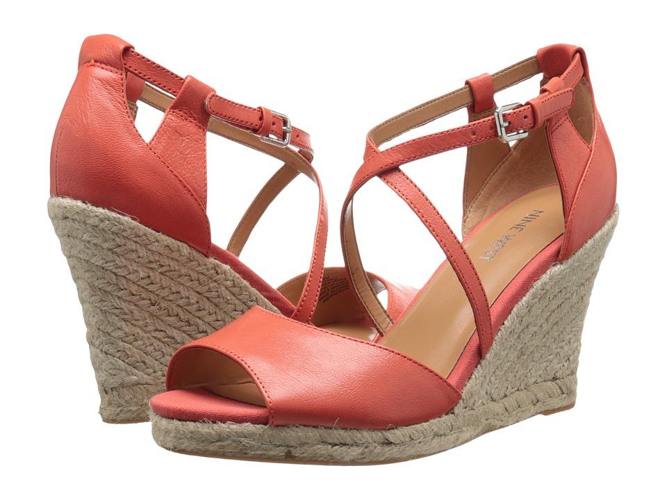 Nine West - Naci (Fresh (Orange) Leather) Women's Wedge Shoes