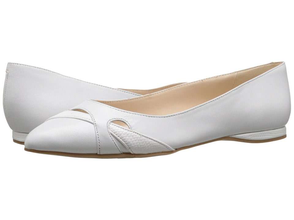 Nine West - Seeya (White/White Leather) Women's Flat Shoes