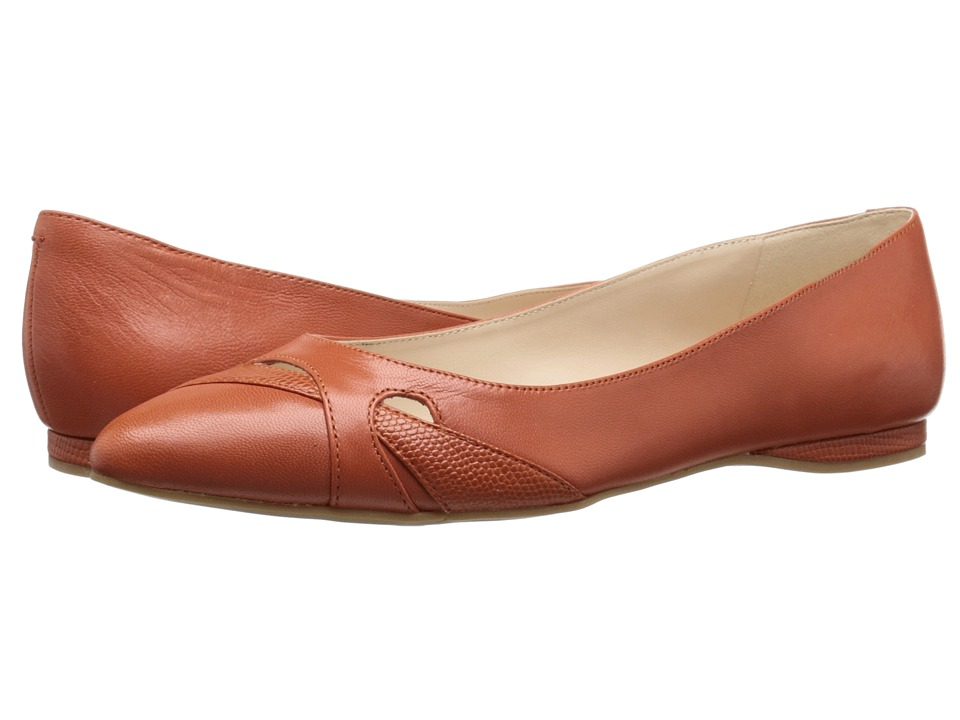 Nine West - Seeya (Orange/Orange Leather) Women's Flat Shoes