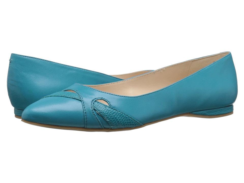Nine West - Seeya (Turquoise/Turquoise Leather) Women's Flat Shoes