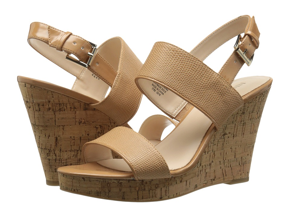 Nine West Lucini Natural-Natural Synthetic Wedge Shoes
