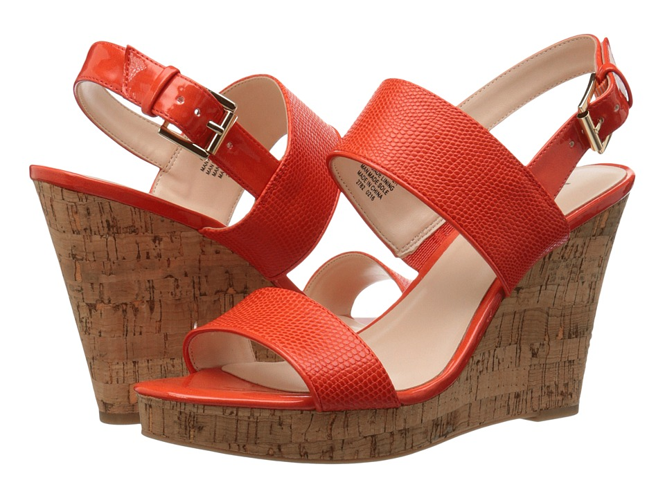Nine West - Lucini (Orange/Orange Synthetic) Women's Wedge Shoes