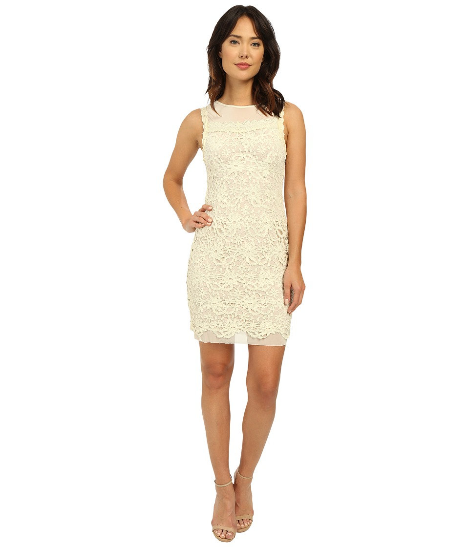 Brigitte Bailey - Ella Sleeveless Lace Dress (Cream Nude) Women's Dress