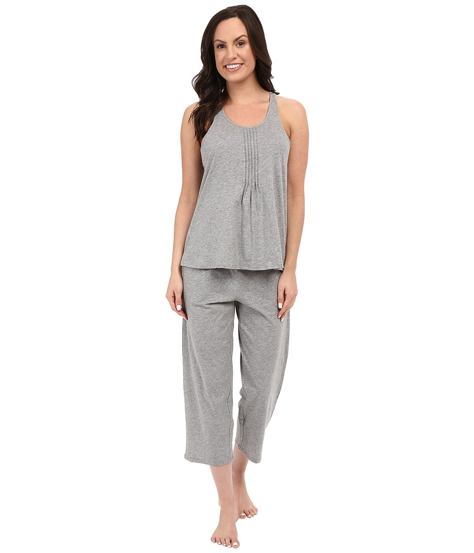 DKNY - Racerback Tank Top Capris Set (Storm Heather) Women's Pajama Sets