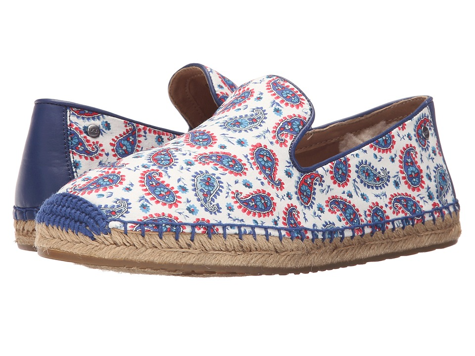 UGG - Sandrinne Liberty (Racing Stripe Blue) Women's Shoes