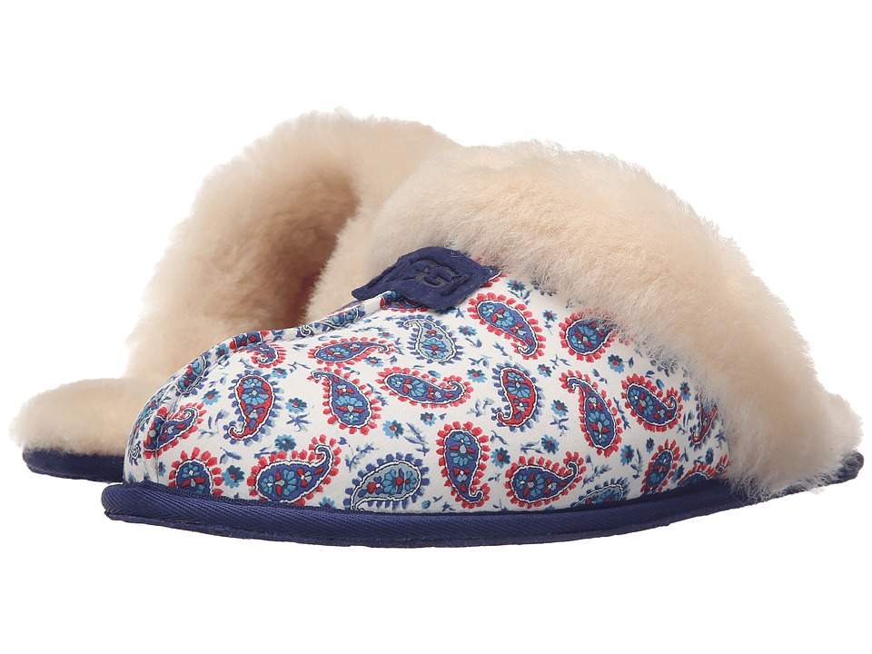 UGG - Scuffette Liberty (Racing Stripe Blue) Women's Shoes