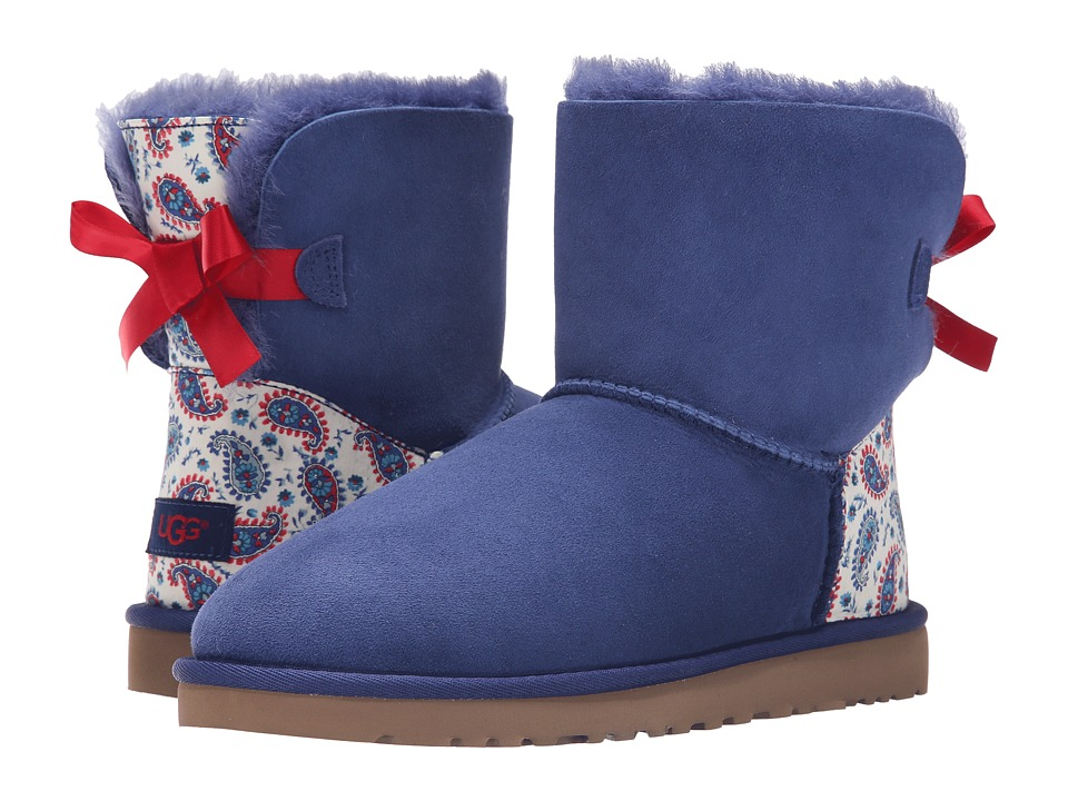 UGG - Mini Bailey Bow Liberty (Racing Stripe Blue) Women's Shoes