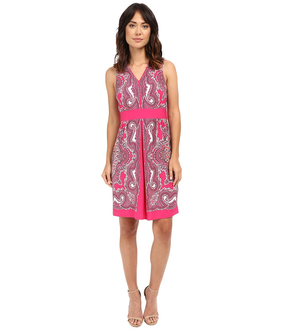 Christin Michaels - Naomi Paisley Dress (Fuchsia/Black) Women's Dress