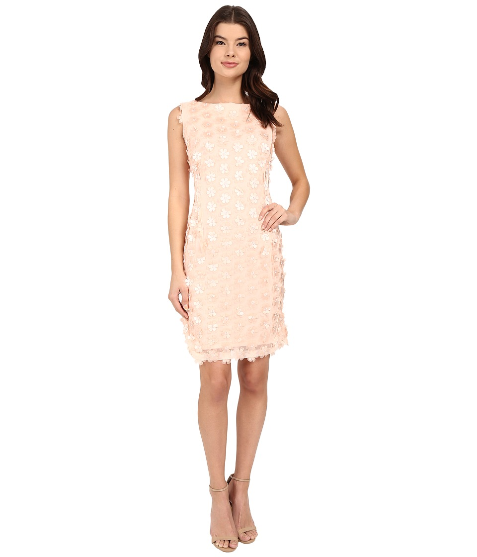 Christin Michaels - Julian Petal Dress (Peach) Women's Dress