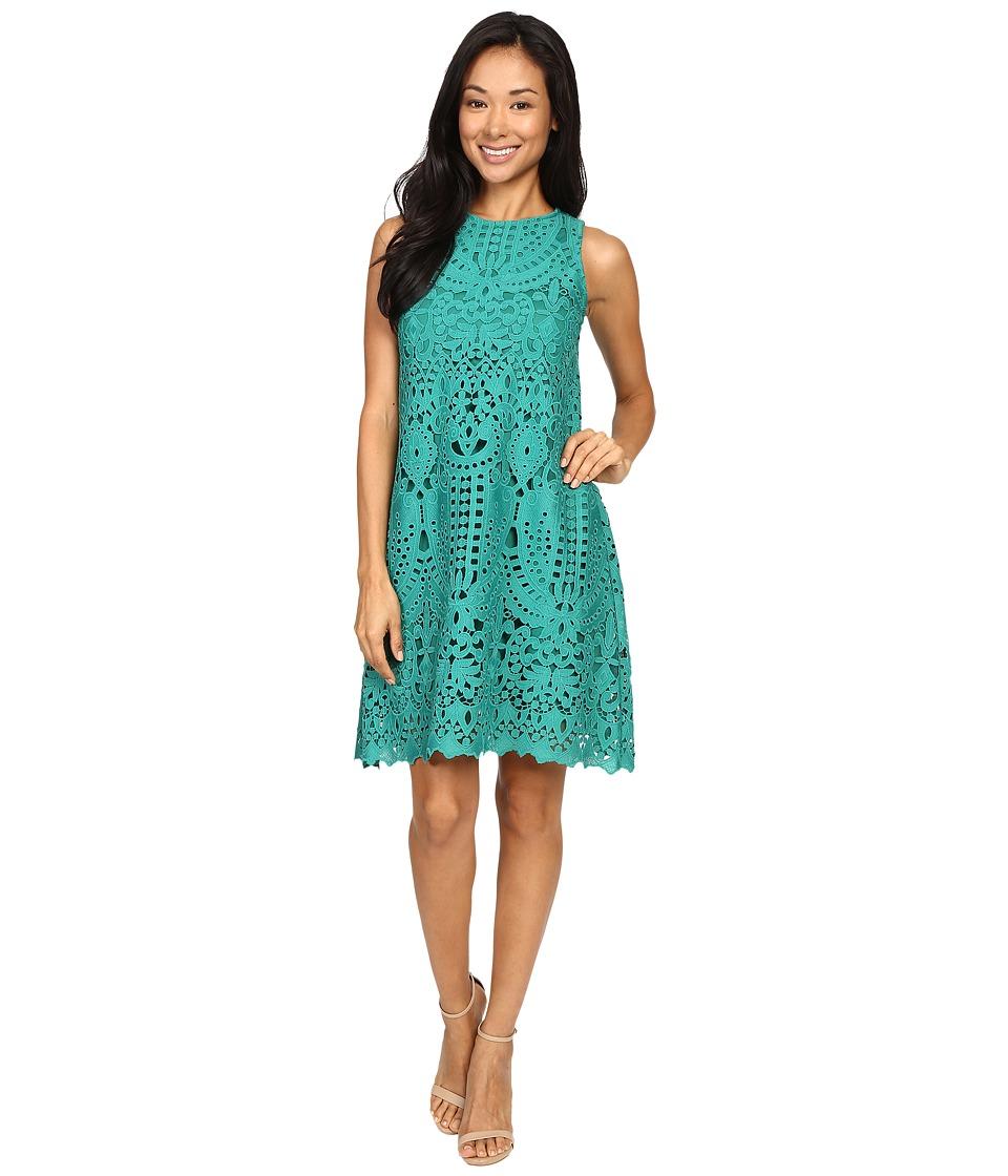 Christin Michaels Charli Lace Dress (Green) Women