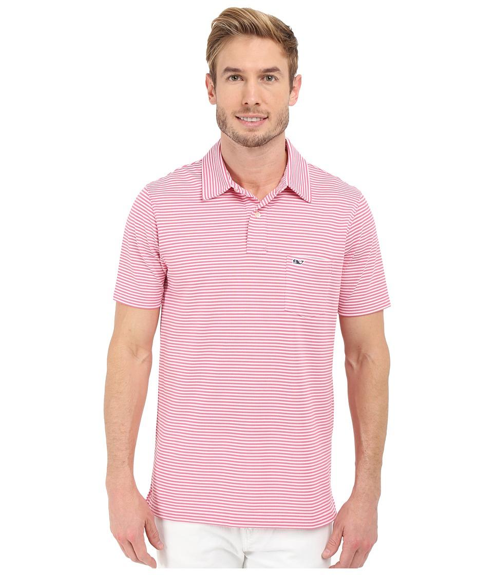 Vineyard Vines - Performance Pique Stripe Polo (Island Sunset) Men's Short Sleeve Pullover