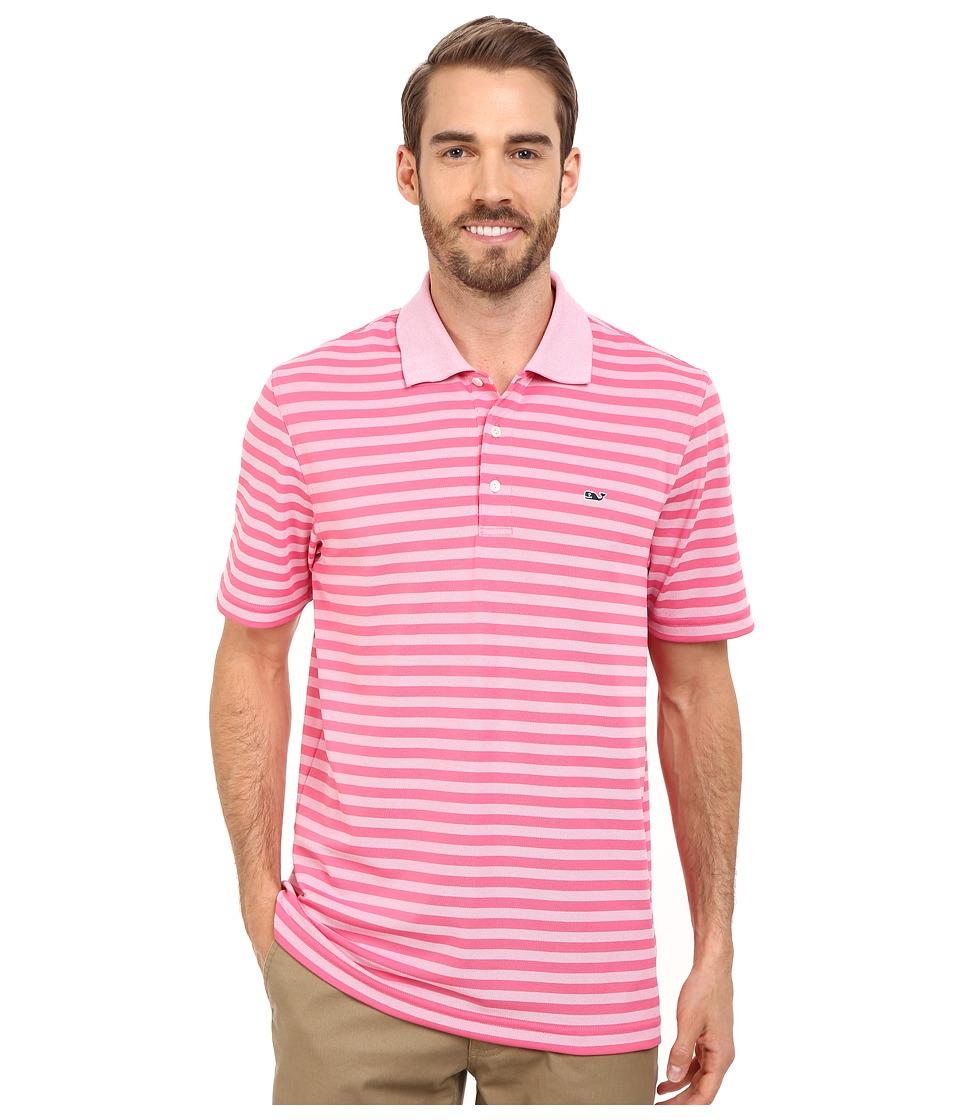 Vineyard Vines - Kingston Stripe Polo (Island Sunset) Men's Short Sleeve Knit