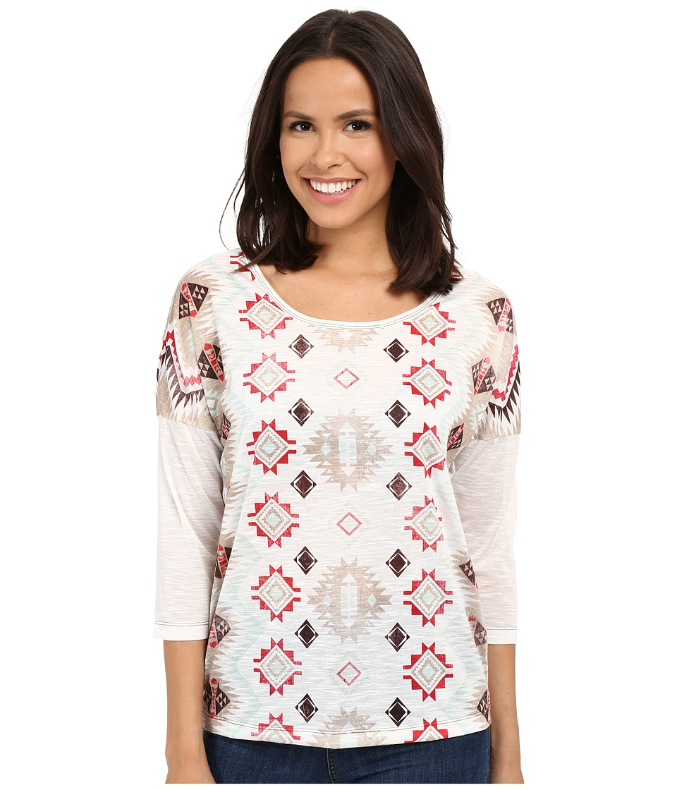 Cruel - Tribal Print Dropped Sleeve Top (Assorted) Women's Long Sleeve Pullover