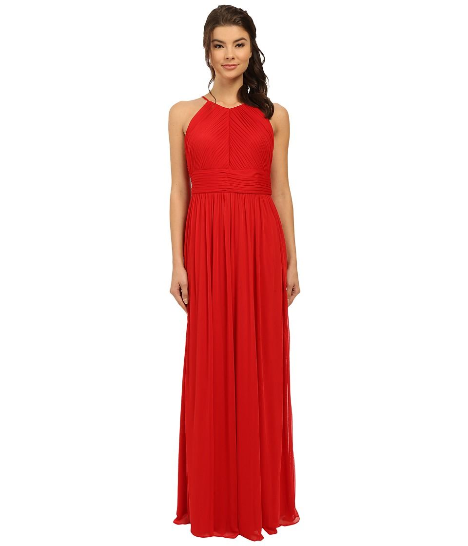 rsvp Maya Pleated Halter Gown (Red) Women