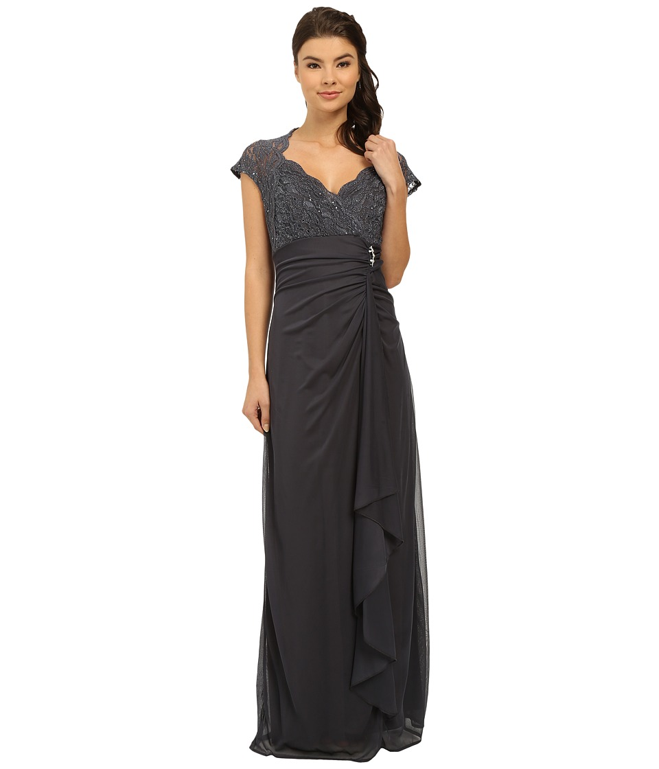 rsvp - Eleanor Sweet Heart Gown (Gunmetal) Women's Dress