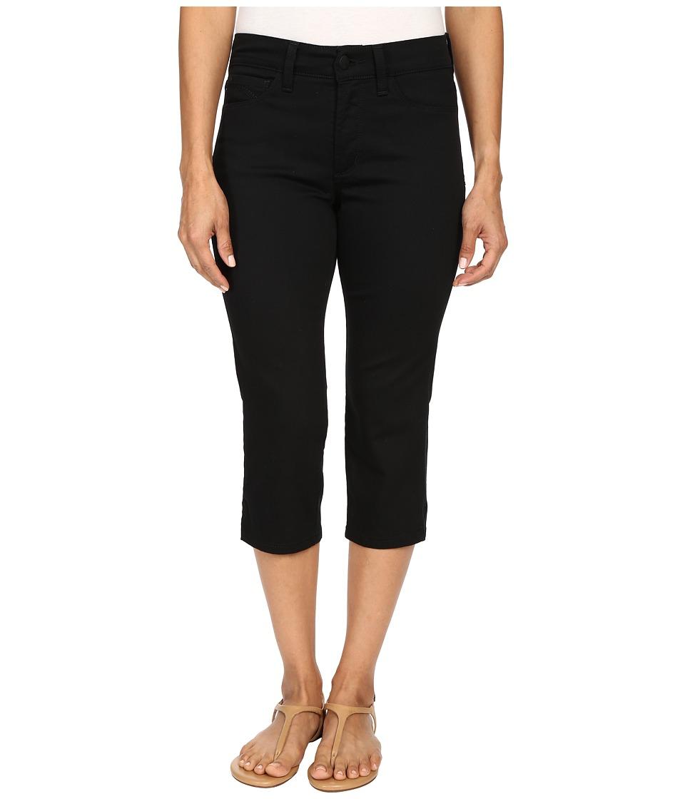 NYDJ Petite - Petite Ariel Crop in Black (Black) Women's Casual Pants