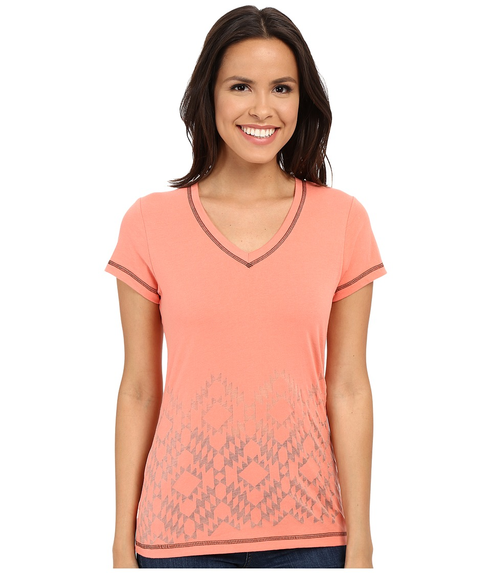 Cruel - Cotton/Poly Jersey (Coral) Women's Short Sleeve Pullover