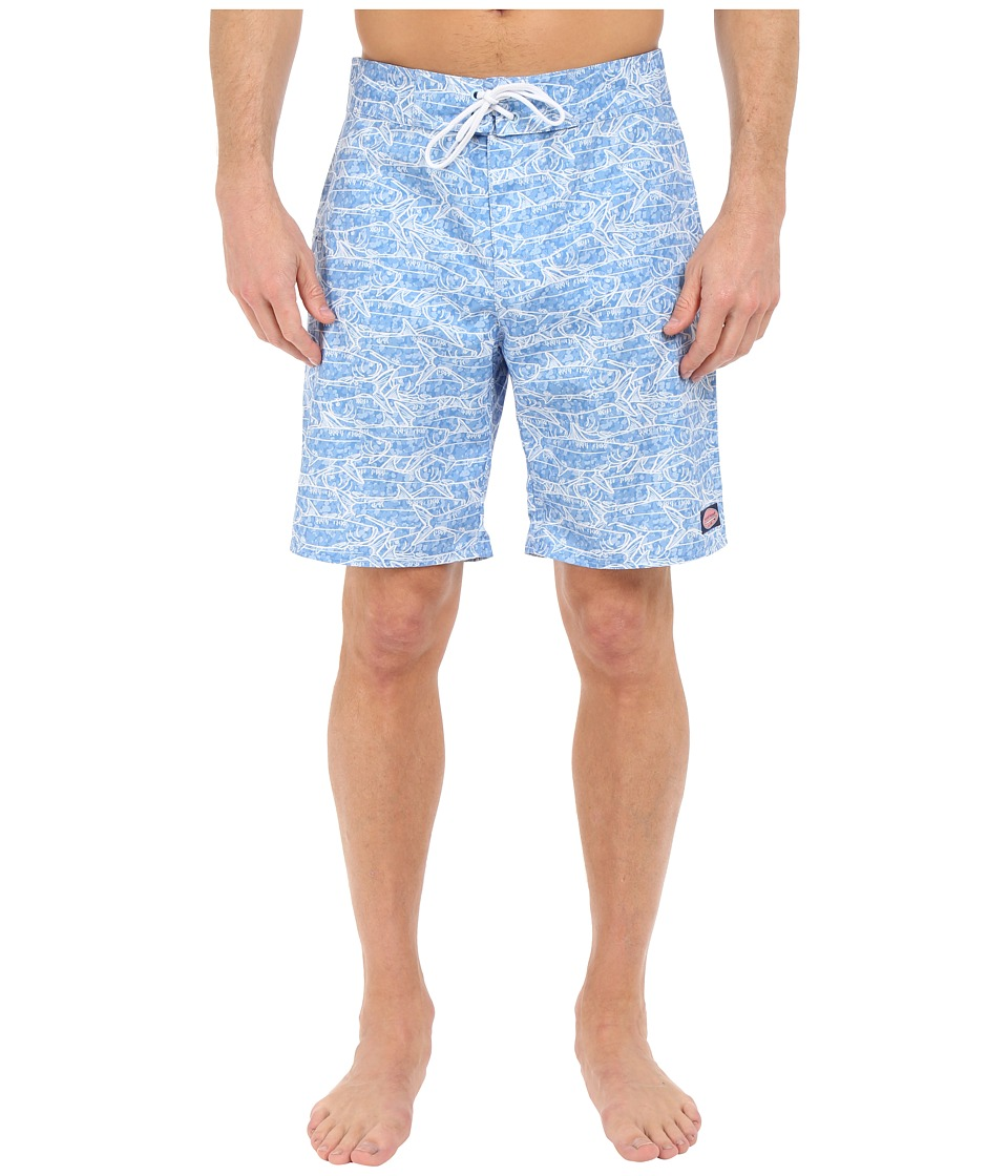 Vineyard Vines - School of Tarpon Boardshorts (Jake Blue) Men's Swimwear