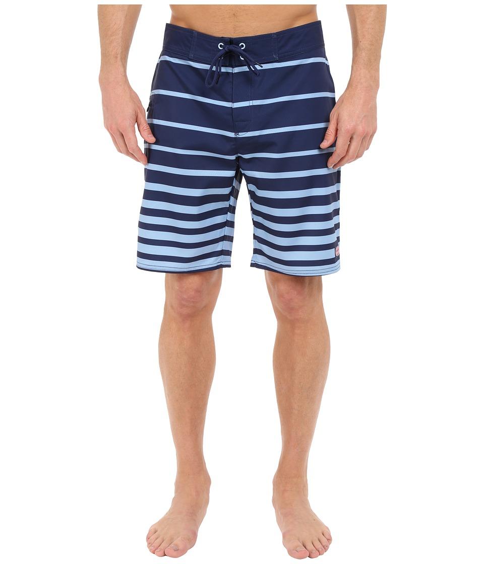 Vineyard Vines - Windward Stripe Boardshorts (Deep Bay) Men's Swimwear