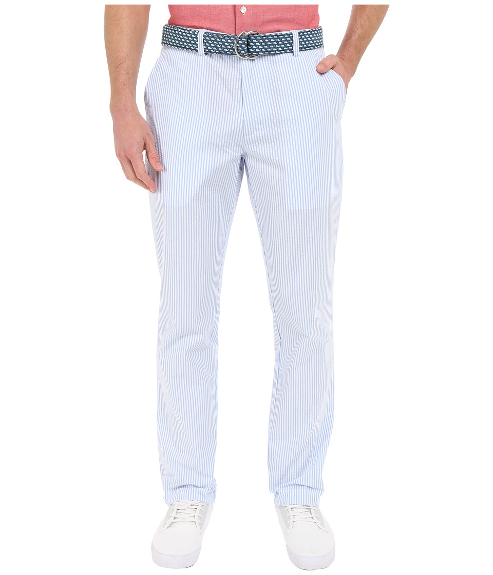 Vineyard Vines - Seersucker Slim Breaker Pants (Hydrangea) Men's Casual Pants