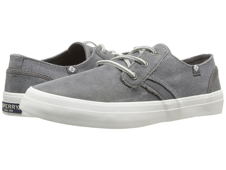 Sperry - Crest Rider Leather (Medium Grey) Women's Lace up casual Shoes
