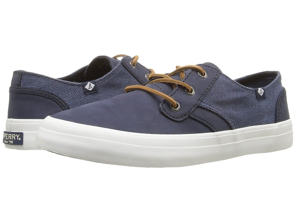 Sperry - Crest Rider Leather (Navy) Women's Lace up casual Shoes