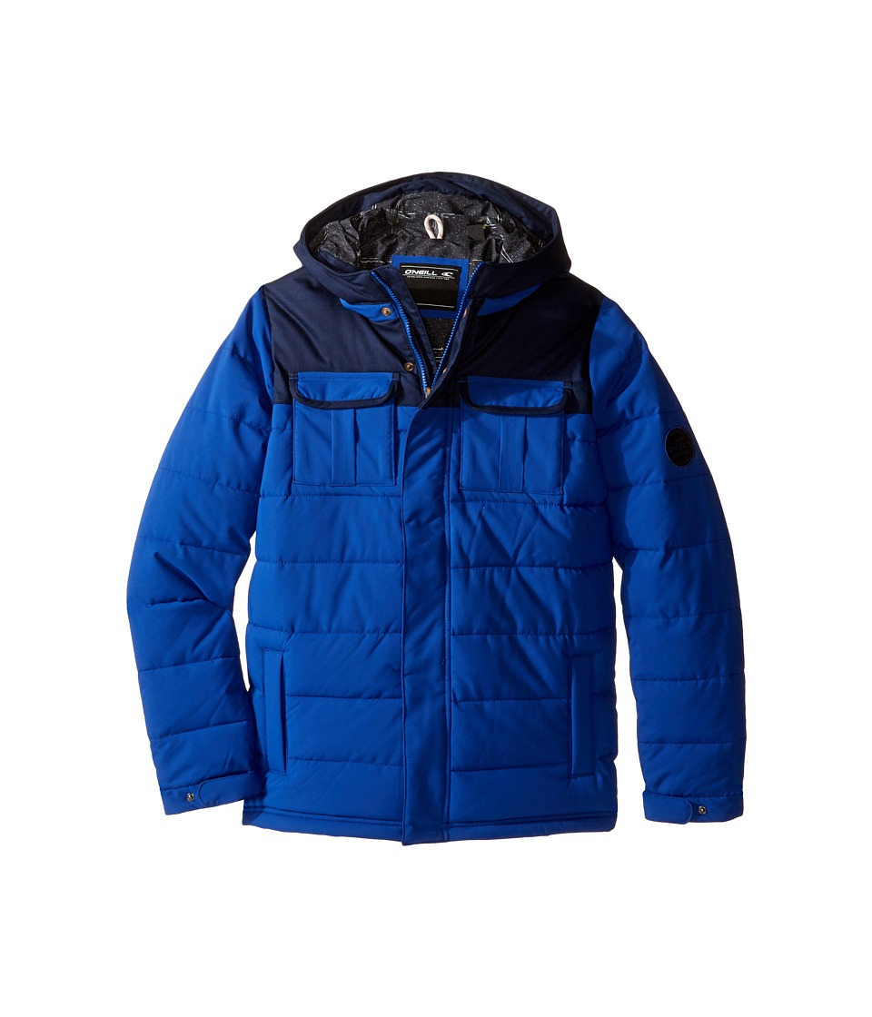 O'Neill Kids - Charger Hood Jacket (Little Kids/Big Kids) (Bright Blue) Boy's Coat
