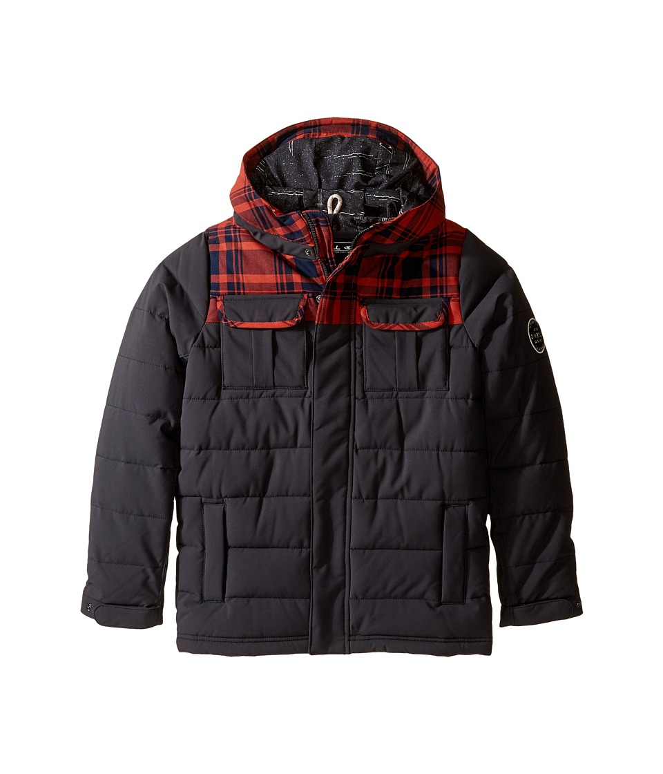 O'Neill Kids - Charger Hood Jacket (Little Kids/Big Kids) (Granite) Boy's Coat