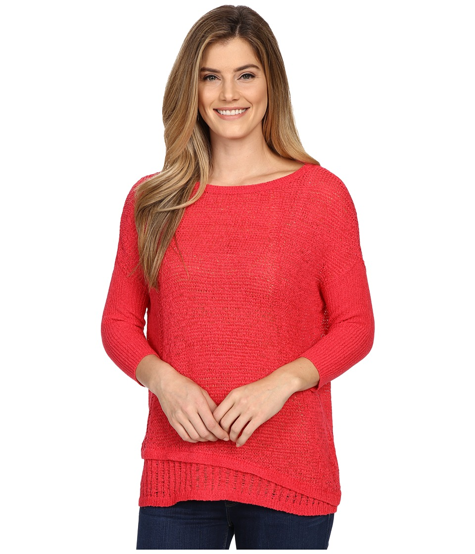 Calvin Klein Jeans - 5GG Tape Yarn Texture Crew (Watermelon Sorbet) Women's Sweater