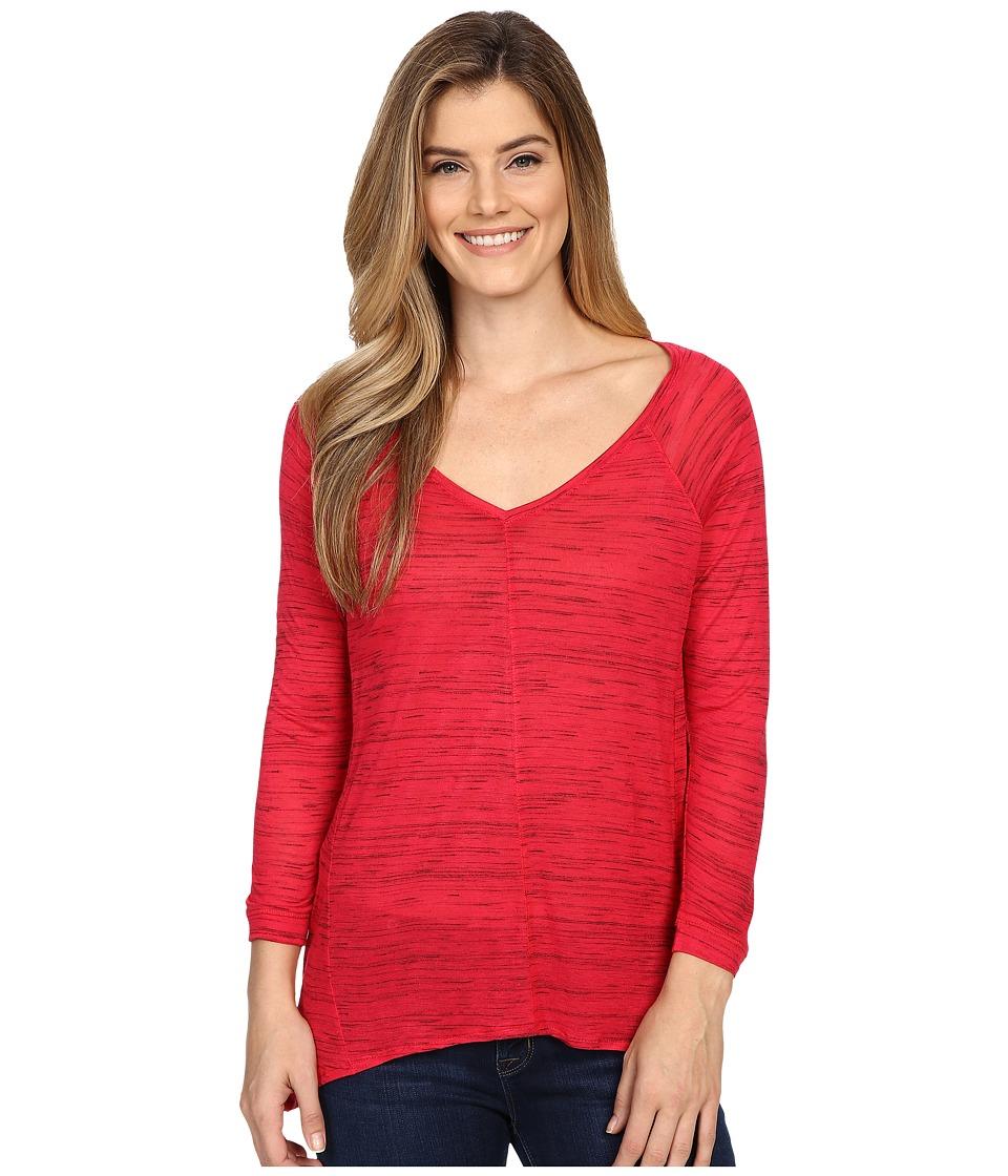 Calvin Klein Jeans 3/4 Sleeve Fleck Tee (Barberry) Women