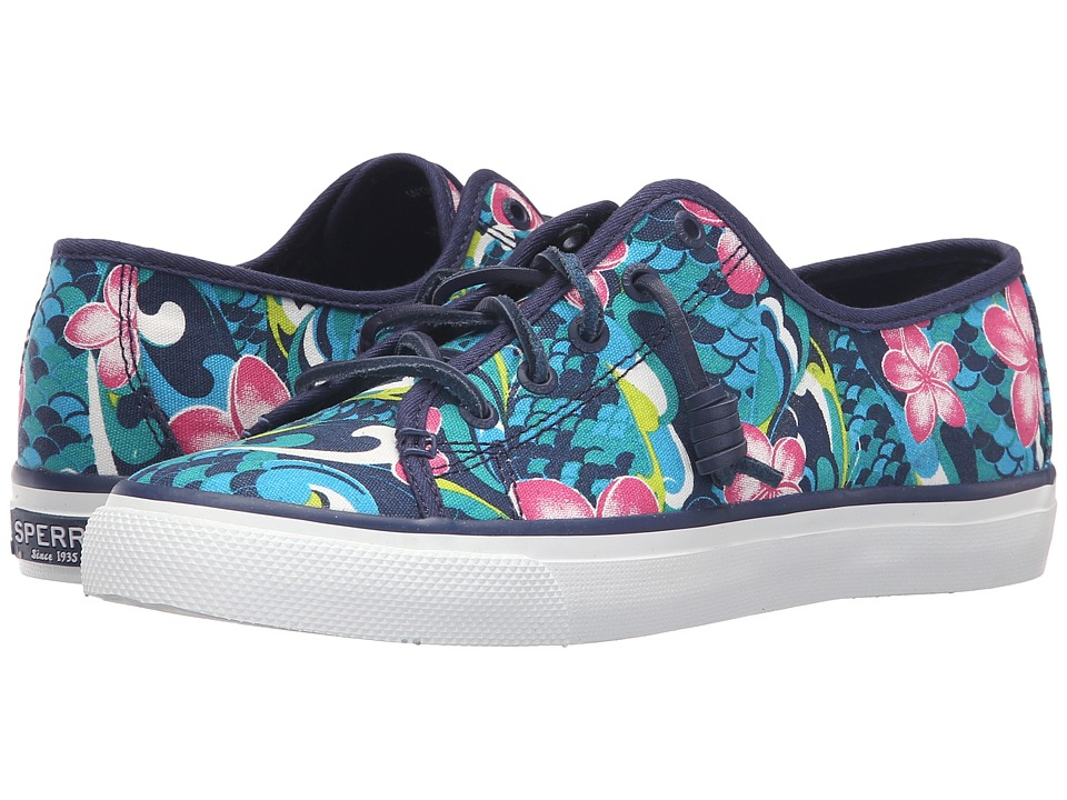 Sperry Top-Sider - Seacoast Floral (Dark Blue) Women's Lace up casual Shoes