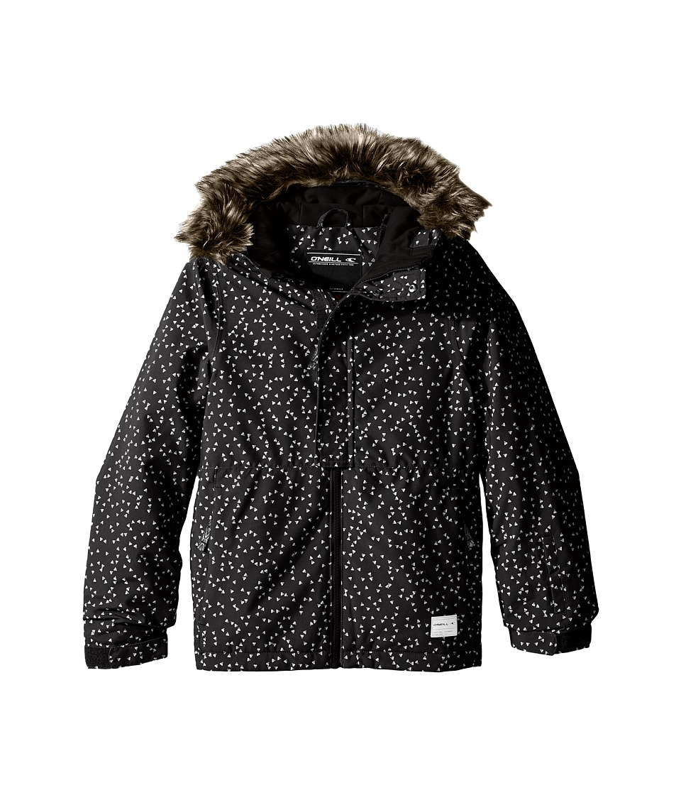 O'Neill Kids - Radiant Jacket (Little Kids/Big Kids) (Black Aop/White) Girl's Coat