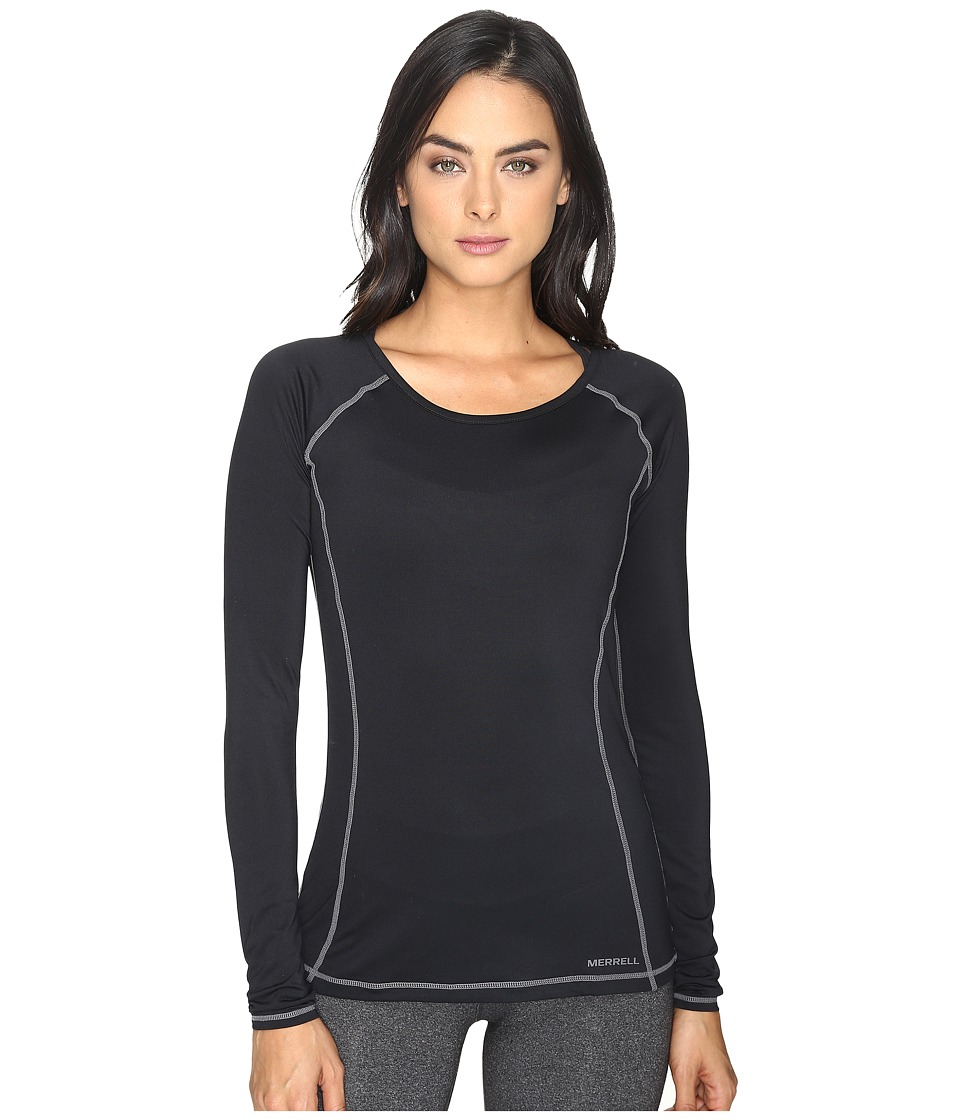Merrell - Contour Base Layer Long Sleeve Top (Black) Women's Long Sleeve Pullover