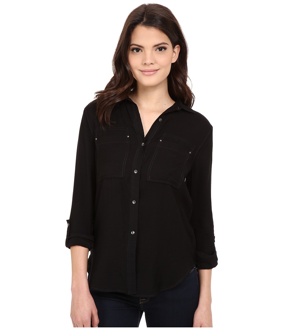 Calvin Klein Jeans - Airflow Utility Shirt (Black) Women's Clothing