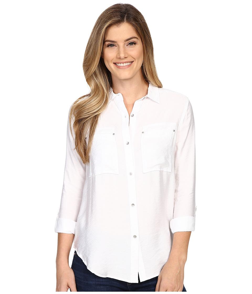 Calvin Klein Jeans - Airflow Utility Shirt (Classic White) Women's Clothing