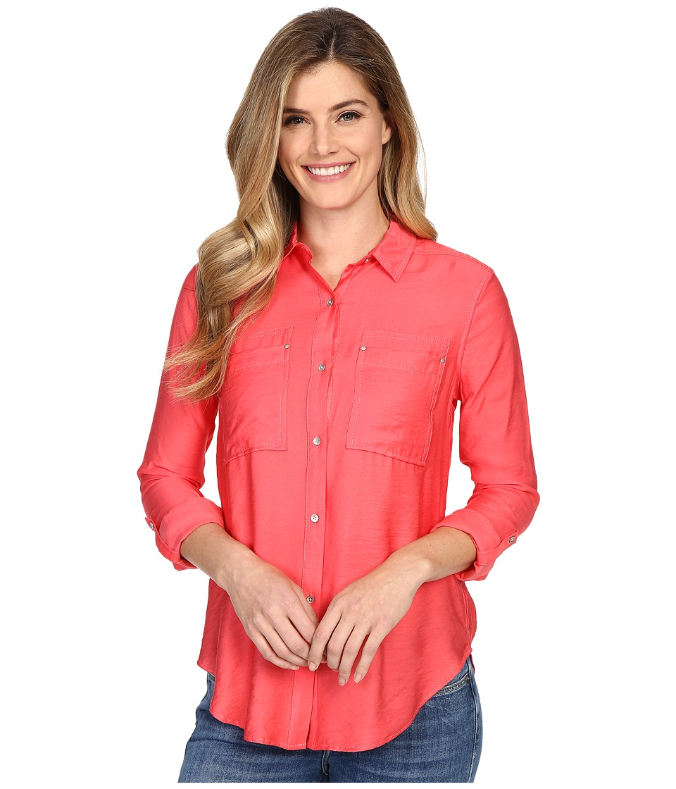 Calvin Klein Jeans - Airflow Utility Shirt (Watermelon Sorbet) Women's Clothing